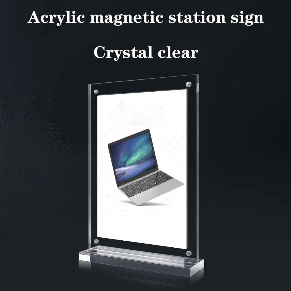 Tischaufsteller Acryl Glasklar Werbeaufsteller Universale Transparent Tischschilder Starke Magnetische Tischkarte Tischkarte Acryl Tischkarte Transparent Preisschild Billboard 3 St/ück 100X150Mm
