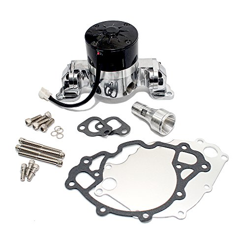 Assault Racing Products 6030200 for Small Block Ford Chrome Aluminum Electric Water Pump HV SBF 289 302