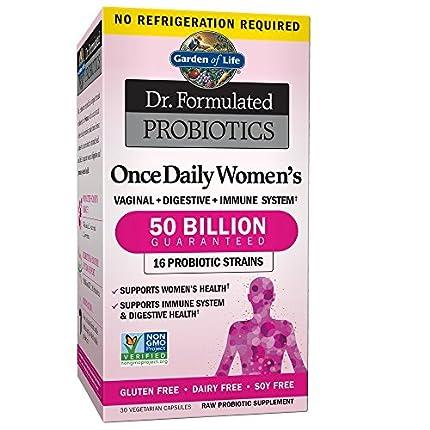 Garden Of Life Dr. Formulado Una Vez Al Día Probióticos Mujeres 30 Cápsulas 60 g