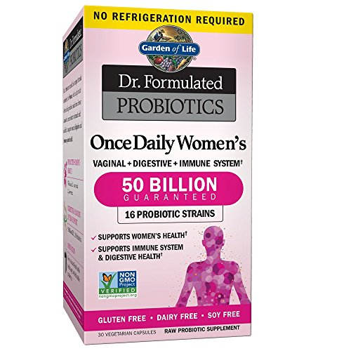 Garden of Life Dr. Formulated Probiotics Once Daily Women's 50 Billion, Gluten & Dairy Free, 30 Vegetarian Capsules, 1 Units