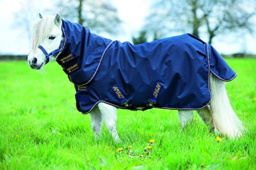 Horseware Amigo Hero 6 Petite Plus Turnout 0g - Navy/Gold, Groesse:60