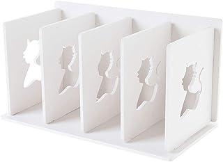 YASE-king Multi-Layer File Storage Rack Desktop Shelf Floor Storage Rack White 30.5x16x17cm Book Stand