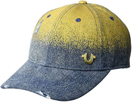 True Religion Herren METALLIC Denim Baseball Cap, Indigo, Einheitsgröße