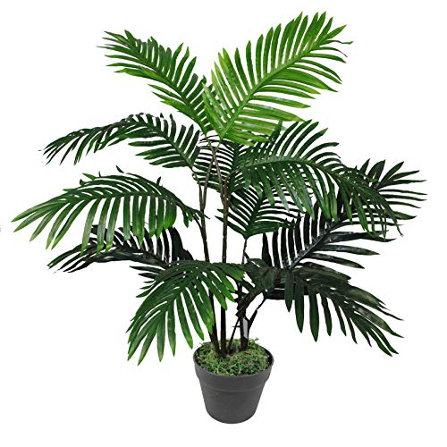 Leaf Árbol de Palmera Artificial de 90 cm, tamaño Grande, Verde