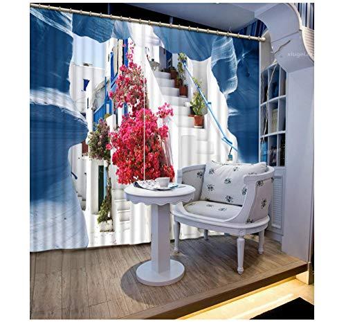 Aymsm Creative building 3D Curtain European style Customized Stereoscopic Custom Size 3D Curtain Blackout