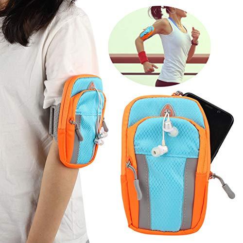 SALUTUYA Oxford Cloth Klettverschluss Oxford Cloth Arm Bags mit Headset Hole Sports Arm Bags zum Laufen(Sports arm Bag)
