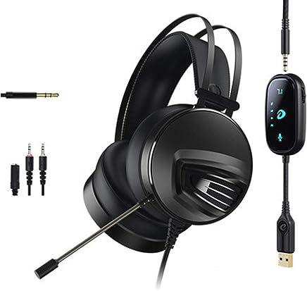 Gaming Headset per PS4 Xbox One PC, Cuffie Over-Ear con cancellazione del rumore con audio surround 7.1 Surround Mic Controllo del volume Jack da 3,5 mm, Mac compatibile, laptop, PC Gamers-black - Trova i prezzi più bassi