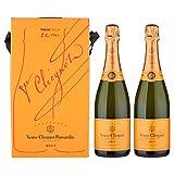 Veuve Clicquot Brut Packung mit 2 Flaschen Champagne, 2x0,75 lt.
