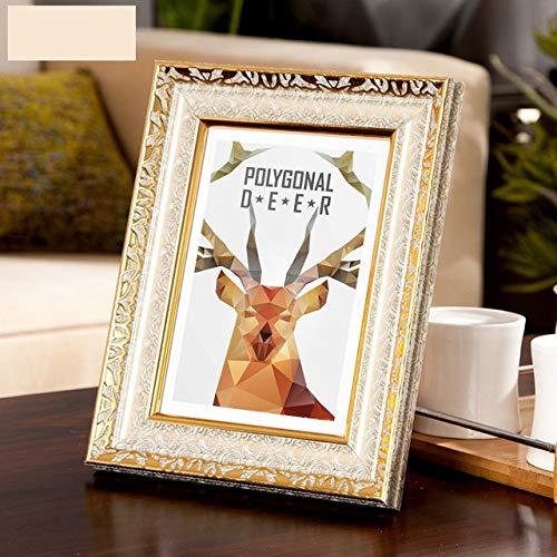 DIAZ Frames geschenken bureau decoratie 4 kleuren Vintage fotolijst gouden fotolijst Europa Home Decor Retro trouwfoto's, Rose goud, 6 inch