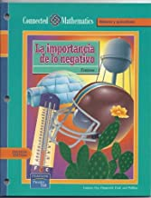 CONNECTED MATHEMATICS 3RD EDITION SPANISH STUDENT EDITION ACCENTUATE THE NEGATIVE GRADE 7 2002C