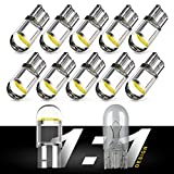Simdevanma 194 LED Bulb Interior Light - 1:1 Halogen Bulb Design 168 T10 W5W For Car License Plate Dome Map Door Courtesy Side Marker Parking Replacement White Light - Pack of 10