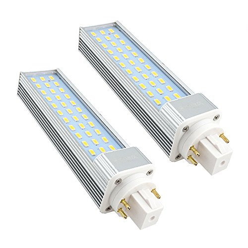 Bonlux 2-Pack 13W GX24 Rotatable LED PLC Lamp G24Q/GX24Q 4-pin Base 26W CFL/Compact Fluorescent Lamp Replacement Warm White 180° Beam Angle LED PL Horizontal Recessed Bulb (Remove/Bypass The Ballast)