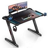 EUREKA ERGONOMIC Gaming Tisch Z1S Gaming Schreibtisch Gaming Computertisch...