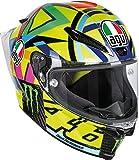AGV Casco de moto Pista GP R E2205 Top PLK, Soleluna 2016 Carbón, talla S
