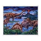 YISUMEI Decke 125x150 cm Kuscheldecken Sanft Flanell Weich Fleecedecke Bettüberwurf Dinosaurier