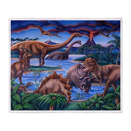 YISUMEI - Coperta in morbido pile con dinosauri, 150 x 200 cm, adatta per divano o letto