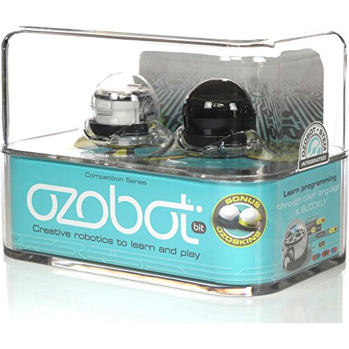 Ozobot- 2.0 Robot bit Doble Negro, Color Blanco, 9013896 (OZO-020102-0102)