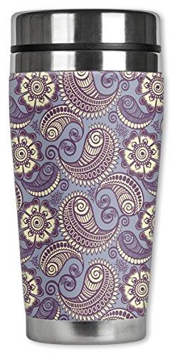 Mugzie ® MAX 20 ml tasse de voyage en acier inoxydable avec combinaison isotherme-Lavande/motif cachemire