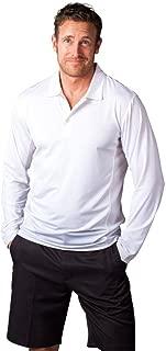 SanSoleil Men's SolCool UV 50 Button Polo