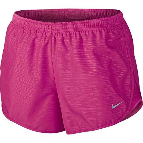 Nike - Pantaloncini da corsa da donna Tempo Modern in rilievo, 3 cm, Donna, Rosa acceso., Small