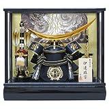 12号伊達兜ケース飾りYN31641GKC 五月人形ケース(木製弓太刀) 五月人形 兜飾り 鎧飾り ケース入り 伊達政宗 kabuto