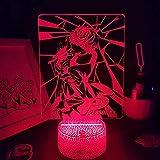 Hermoso regalo para niño, lámparas 3D LED RGB luces de noche Perso&n Figura de juego Ren Amamiya regalo para amigos, cama, mesa, escritorio, decoración colorida