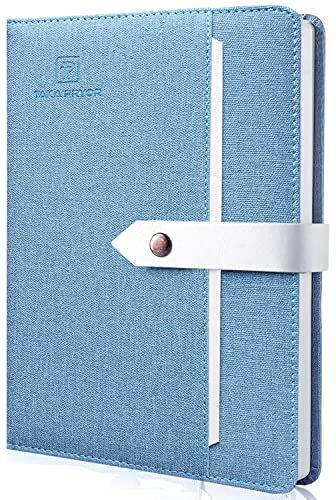 Liniertes Notizbuch, Hardcover, 200 Seiten, liniert, persönliches Reisetagebuch, 14,5 x 21,6 cm, A5, TAKA PRYOR (hellblau)