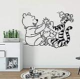 mlpnko Dibujos Animados creativos Pegatinas de Pared decoración niños Dormitorio Vinilo Pared calcomanía Personaje de Dibujos Animados,CJX10894-55x39cm