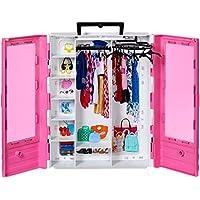 Barbie - Fashionista Armario Portable para Ropa y Accesorios de Muñecas (Mattel GBK11)