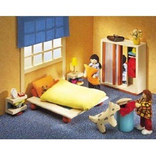 Selecta 4362 - Ambiente Schlafzimmer Puppenhausmöbel