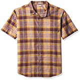 Columbia Men's Big & Tall Under Exposure Yarn Dye Short Sleeve Shirt, Red Lodge Madras, X-Large Tall