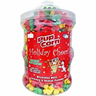 Pupcorn Holiday Cheer Hydrant, Color: Beef, Chicken & Veggie Flavors, 25 Oz