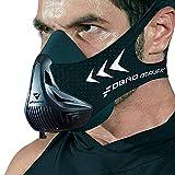 FDBRO Trainingsmaske Workout Maske- - High-Altitude-Endurance-Maske erhöht die Kraft, Laufwiderstand Atemmaske mit Tragetasche (Schwarz, S)