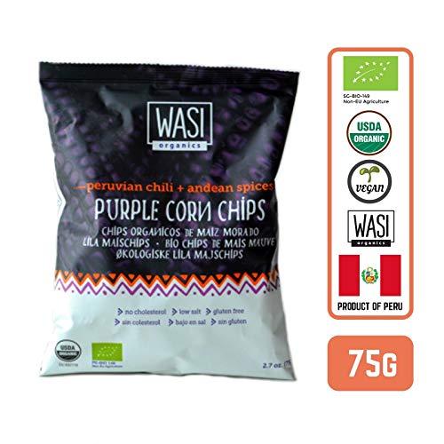 Wasi Organics Purple Corn and Quinoa Chips Peruvian Chili 2.45 oz ( 70 g) ( Pack of 1)