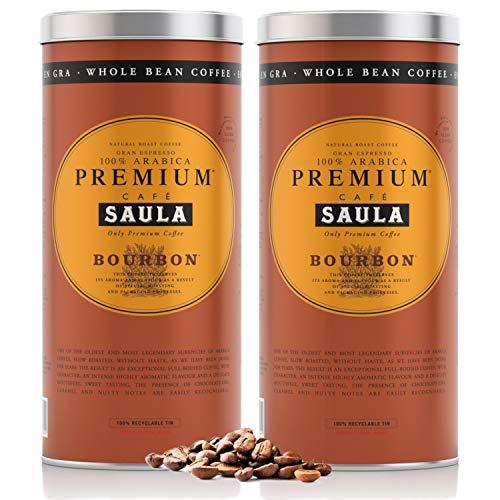 Café Saula Pack 2 Latas Gran Espresso Premium Bourbon 500g. Grano 100% Arábica