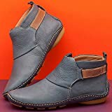 FULLINO Arch Support Unisex Boots 2021 New Ankle Boots Leather Comfy Flat Shoes Winter Warm Heel...
