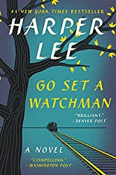 Go Set A Watchman by Harper Lee, book cover with black tree and bright yellow leaves