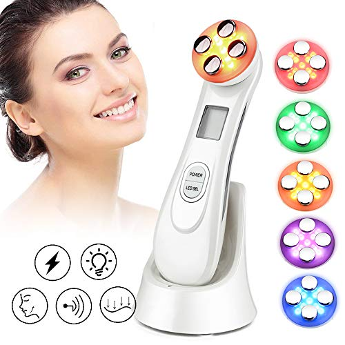 5 in1 Facial Massager,Titoe 6 color Face Firming Care Device for Face Massager