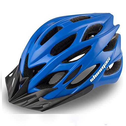 KINGLEAD Fahrradhelm mit LED-Licht, Unisex-geschützter Fahrradhelm für Radrennen Skateboardfahren im Freien Sicherheit Superleichter Verstellbarer mit CE-Zertifikat