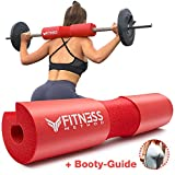 Fitness Method I 2020 Upgraded I Hip Thrust & Kniebeugen Barbell Pad +Booty Guide+ Klettverschluss,...