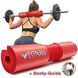 [page_title]-Fitness Method I 2020 Upgraded I Hip Thrust & Kniebeugen Barbell Pad +Booty Guide+ Klettverschluss, das Langhantel Polster/Nackenpolster ist in hochwertiger Qualität, Hantelstange Nackenschutz Squat