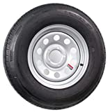 Radial Trailer Tire Rim ST205/75R14 205/75-14 14 5 Lug Wheel Gray Grey Modular