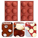 6 Holes Sphere Silicone Mold, Semi Baking Mold for Making Chocolate, Cake, Jelly, Dome Mousse Cupcake Baking Pan DIY Cake Mold (2)