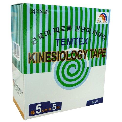 temtex–Kinesiology Tape 5x 56Stück, blau