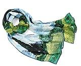 prettystern 160 cm Mujer Bufanda de seda Van Gogh Las impresiones de obras de arte Campo de trigo con ciprés P943
