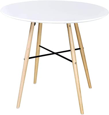 Dining Table Mid-Century Kitchen Table Kitchen Living Leisure Pedestal Round End Side for Home Office Patio