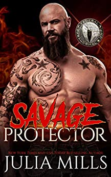 Savage Protector: Federal Paranormal Unit (Dragon Guard Book 44) by [Julia  Mills]