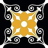 Mi Alma Baño Décor Azulejos 24pcs Talavera Azulejos Adhesivos de fácil aplicación – Diseño de decoración – Ideal para baño, Cocina Pared Azulejos calcomanías backsplash