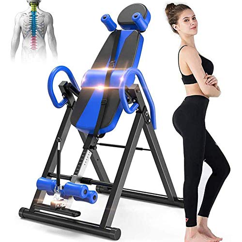 Check Out This Gravity Inversion Table, Suspension Stretcher with Adjustable Head Pillow & Lumbar Su...