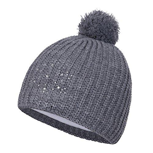 Icepeak Marja - Damen Winter Mütze Strickmütze - 855822579-810 grau, Größe:One Size